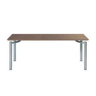 Garage パソコンデスク テーブル fantoni ME 53-1M16 幅160cm 奥行き80cm くるみ/銀