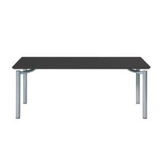 Garage パソコンデスク テーブル fantoni ME 53-1M16 幅160cm 奥行き80cm 黒 シルバー脚
