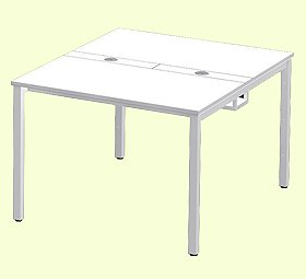 Garage フリーアドレスデスク 多人数用デスク MP−1012SS 幅100cm 白 ホワイト