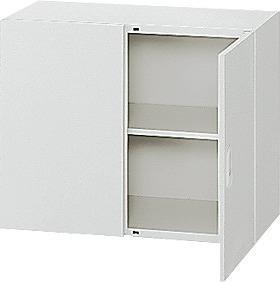 l570a 635-327 Garage 収納家具 スチール製 システム収納L5 収納庫 両開き保管庫 幅90 奥行45 高さ72cm