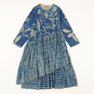 maku SHIULI - 50% cotton & 50% silk handwoven dress