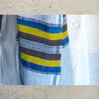 【予約商品】0011 Kala Cotton Stole from Aadhoi Village, Kutch 1 カッチ アドイ村のカラコットンストール 1