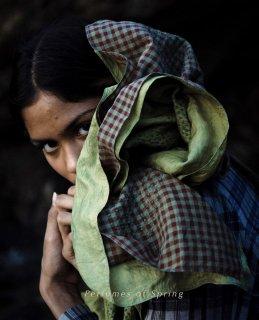 maku TURAN-Silk and Cotton Handwoven Scarf GREEN