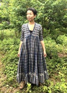 maku DZIBAN - 60% Cotton & 40% Silk Handwoven Dress