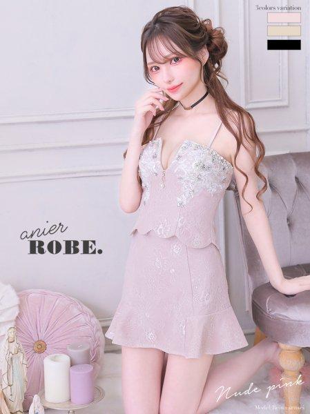 【anier ROBE. アニエルローブ】【anier4003】【ROBEdeFLEURS】Pearl Bijou Two Piece Dress 送料無料