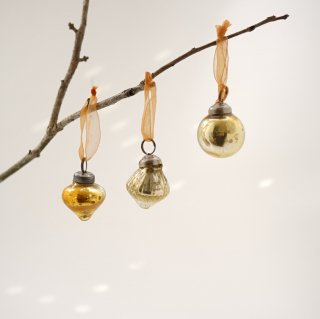 Christmas Ornaments 3個セット ゴールド