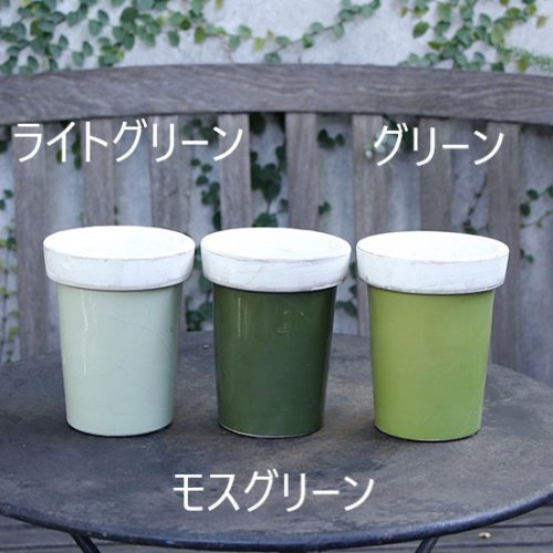 <img class='new_mark_img1' src='https://img.shop-pro.jp/img/new/icons14.gif' style='border:none;display:inline;margin:0px;padding:0px;width:auto;' />Green long tom flower pot