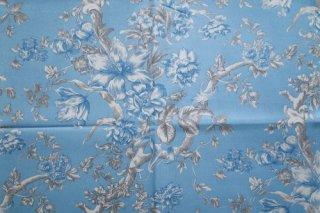 フランス花柄 ブルー