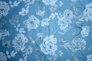 フランス新花柄 ブルー