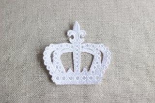 刺繍飾り(クラウン ホワイト)