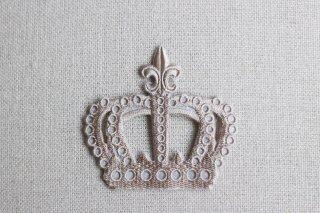 刺繍飾り(クラウン グレージュ)