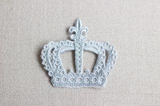 刺繍飾り(クラウン グレー)