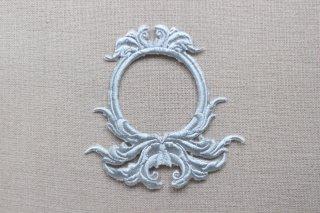 刺繍飾り(デコラティブフレーム グレー)