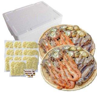 大容量 海鮮バーベキューセット【送料無料】 サザエ えび イカ 活ハマグリ 約10人前