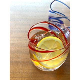 涼風ロックグラス2個セット(青/オレンジ)
