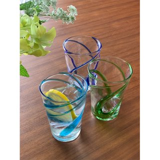 涼風タンブラー3個セット(青/水/緑)
