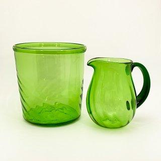 ボトルクーラー&水差しセット(緑色)