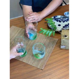 気分で使い分け!じょーぐーグラス3個セット(色:緑水)