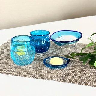 夏の贈り物キャンペーンvol.3(水色) �涼夏小鉢�ジンベエたるグラス�パイングラス�島の小皿