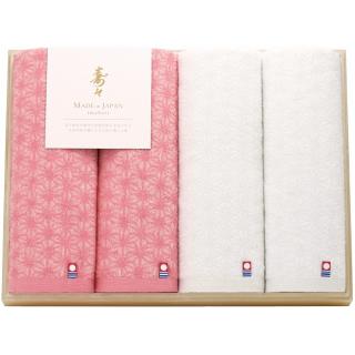 寿々(じゅじゅ)木箱入り紅白タオルセット 60341 0091