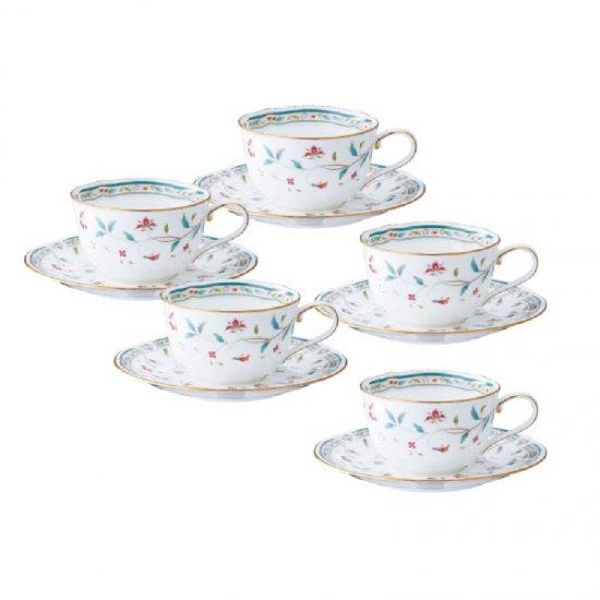 F59387A/4409ノリタケ 花更紗 ティー・コーヒー碗皿(5客)F59387A/4409 0128
