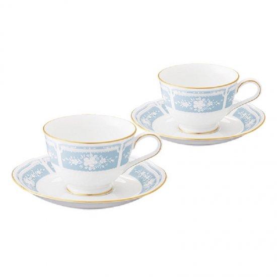 Y6578A/1507ノリタケ レースウッドゴールド ティー・コーヒー碗皿ペア Y6578A/1507 0128