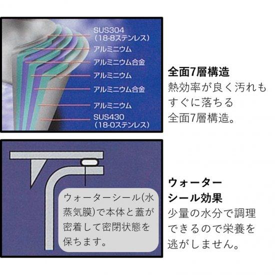 GEO-18YHジオ・プロダクト 全面7層 行平鍋18cm GEO-18YH 0045