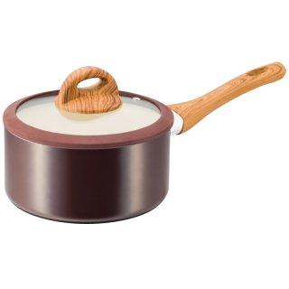 ククナ 木目調セラミックアルミ片手鍋18cm KKN-WA18K 0045