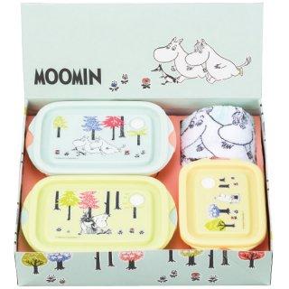 ムーミン 電子レンジ容器&タオル4点セット SET938 0122