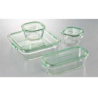 イワキ パック&レンジシステムセットミニ(耐熱ガラス)PSC-PRN4G2 0045