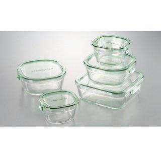 イワキ パック&レンジ角型5点セット(耐熱ガラス)PSC-PRN-5G 0045