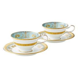 ノリタケ ジョージアンターコイズ ティー・コーヒー碗皿ペア P59587/4857 0128
