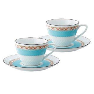 ノリタケ ハミングブルー ティー・コーヒー碗皿ペア P5389L/1645 0128