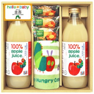 はらぺこあおむし お名入れリンゴジュース詰合せ SHN-30【お名入れ】0051