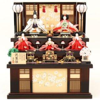 ひな人形 4F16-AA-612 五人収納箱飾り 60×63×68cm 0011