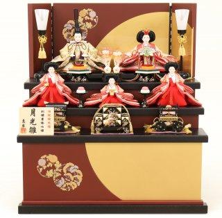 ひな人形 4F16-AA-616 五人収納箱飾り 55×46×60cm 0011