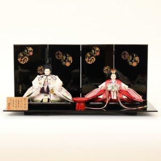 ひな人形 4F11-AA-141 親王飾り 65×38×30cm 0011