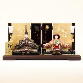ひな人形 4F11-AA-144親王飾り 65×38×32cm 0011