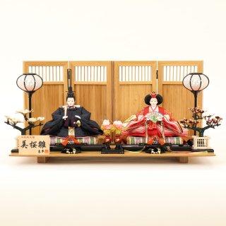 ひな人形 4F11-AA-169親王飾り 60×35×31cm 0011