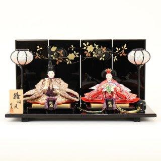 ひな人形 4F11-AA-172 親王飾り 50×28×27cm 0011