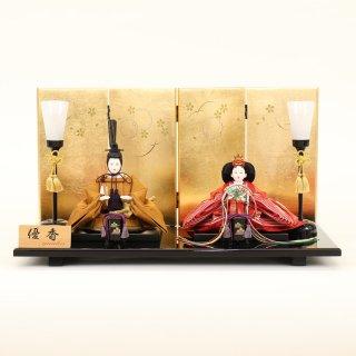ひな人形 4F11-AA-175 親王飾り 50×28×27cm 0011