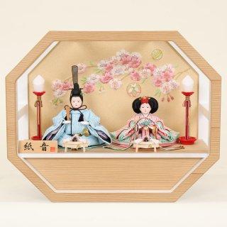 ひな人形 4F11-AA-198 親王飾り 43×19×35cm 0011