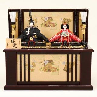 ひな人形 4F12-AA-206親王収納箱飾り 55×38×50cm 0011