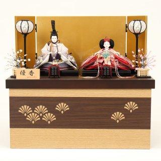 ひな人形4F12-AA-210 親王収納箱飾り 50×35×46cm 0011
