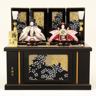 ひな人形4F12-AA-222 親王収納箱飾り 60×40×57cm 0011