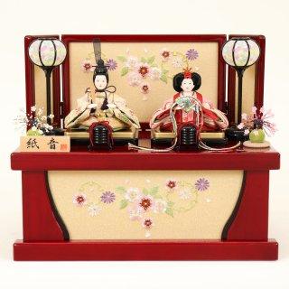 ひな人形 4F12-AA-225 親王収納箱飾り 43×28×36cm 0011