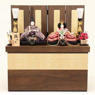 ひな人形 4F12-AA-228 親王収納箱飾り 50×30×52cm 0011