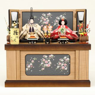 ひな人形 4F12-AA-230 親王収納箱飾り 60×38×54cm 0011