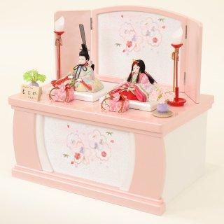ひな人形 4F42-FK-202 木目込人形収納箱飾り 親王飾り 43×28×42cm(ももか)13号 0011