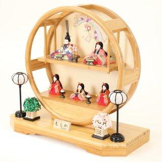 ひな人形 4F45-FK-221 木目込人形飾り 五人飾り 60×25×55cm(ももか)13号 0011